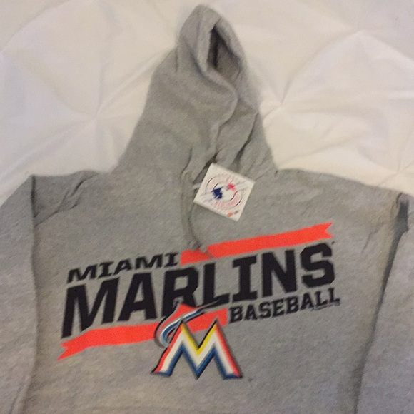 new product 8ad37 e052b Miami Marlins hoodie NWT
